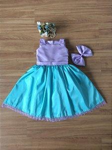 Vestido Pequena Sereia  -Vestido Infantil