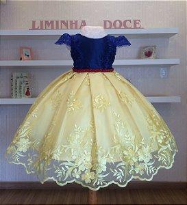 Vestido Branca De Neve -Vestidos de temas infantil