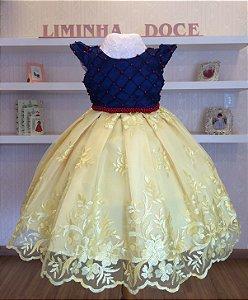 Vestido de Festa Branca De Neve -vestidos de temas infantil