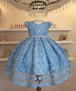 Vestido Azul-vestidos de temas infantil