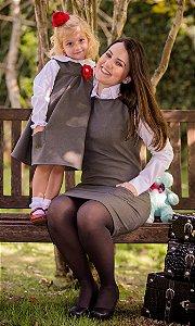 Vestido Basico Com Camisa- Mãe e Filha