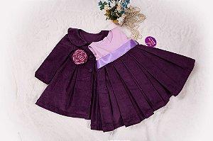 Conjunto Sobre tudo Violeta  - coleçao de inverno infantil