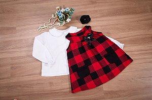 Trapezio xadrez com camisa - coleção de inverno infantil
