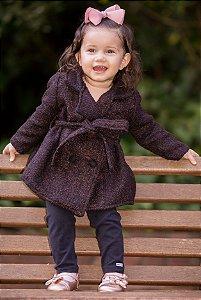 Sobre tudo Lanzinha Marrom - coleção de inverno infantil
