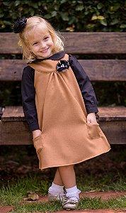 Vestido Trapézio Com Camisa  - coleção de inverno infantil