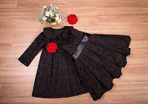 Conjunto sobre tudo e vestido Jacar  - coleção de inverno infantil