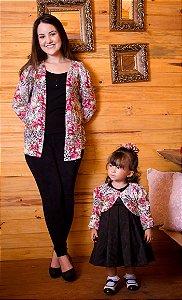 Cardigan e Bolero Floral-Mãe e Filha