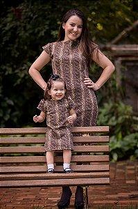 Vestido Onçinha -Mãe e Filha