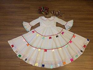 Vestido noivinha para Festa Junina - Infantil