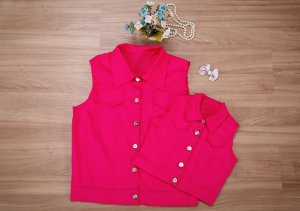 Colete Rosa Pink- Mãe e Filha