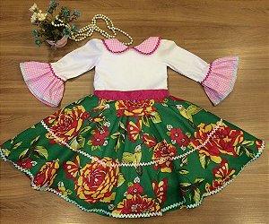 Vestido para Festa Junina floral- vestidos para festa junina