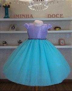 Vestido de Festa Ariel - vestidos de temas infantil