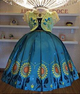 Vestido Festa Frozen -vestidos de temas infantil
