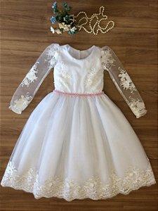 Vestido Dama De Honra Manga Longa -daminhas de honra