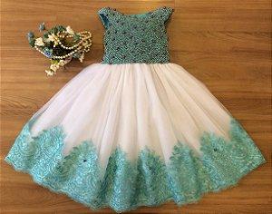 Vestido De Festa Fundo Do Mar -vestidos de temas infantil