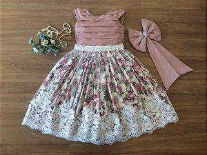 Vestido para Daminha das Flores-daminhas de honra