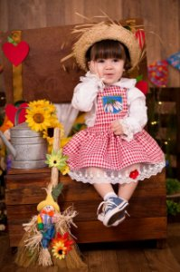 Conjunto fazendinha -vestidos de temas infantil