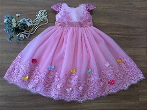 Vestido Festa das  Borboletas - Vestidos de festa Infantil