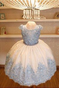 Vestido Elsa Frozen  - VESTIDOS DE FESTA INFANTIL