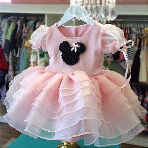 Vestido Festa Minnie - Vestido de Festa Infantil