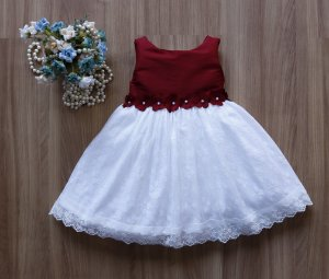 Vestido Marsala Infantil   - PROMOÇÕES