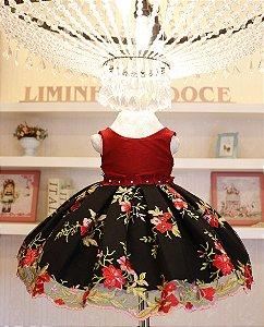 Vestido de Festa floral- PROMOÇÕES