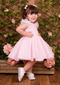 Vestido De Festa Rosa  - Vestido de Festa