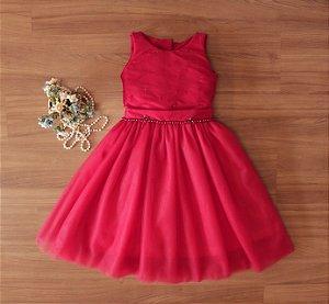 Vestido de Formatura Vermelho - Vestido Para Formatura Infantil
