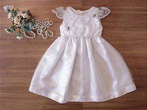 Vestido  Branco Para Batizado - Batizado