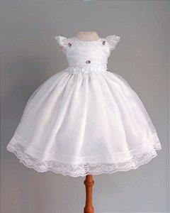 Vestido Para Daminha Branco - Dama de Honra
