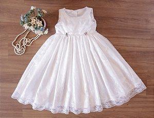 Vestido Branco de renda  - Batizado