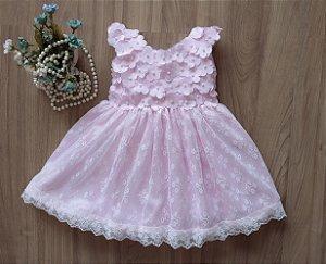 Vestido De Festa Rosa - Vestido de Festa Infantil