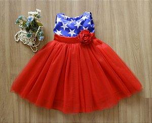 Vestido Mulher Maravilha  - Vestido de festa Infantil