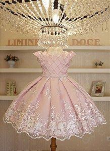 Vestido de Festa Minnie Rosa Luxo - Vestido de Festa