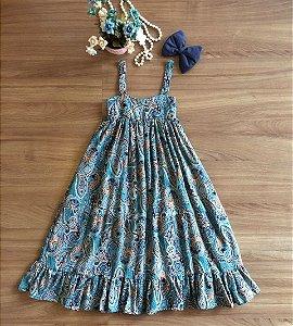 Vestido Longo Floral Infantil - Vestido de Festa
