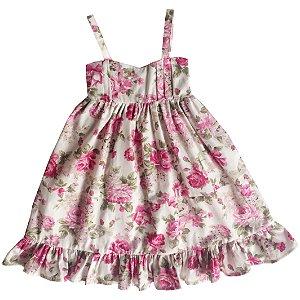 Longo floral pink  - Vestido de Infantil