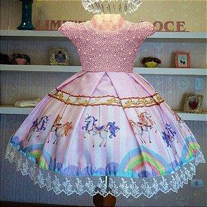 Vestido carrossel luxo  - Infantil