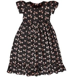 Vestido Preto Com Laçinhos   - Vestido Infantil