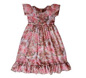 Vestido Floral Claro - Vestido Infantil