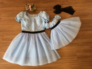 Vestido Alice Pais das Maravilhas - Mãe e Filha