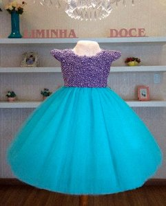 Vestido Fundo Do Mar Bordado - Infantil