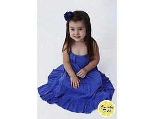 Vestido Longo Azul infantil - Promoçao dia das crianças