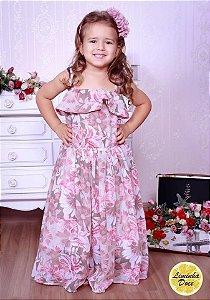 vestido floral claro- promoçao dias das crianças