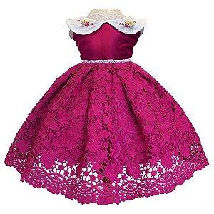Vestido de Festa Pink - Infantil