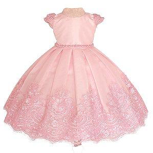 Vestido Rosa  - Vestido de Festa