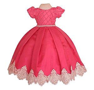 Vestido Pink Formatura ABC-Vestido  Infantil