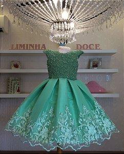 Vestido de Festa Fada Sininho Luxo - Infantil