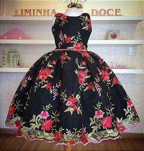 Vestido Floral Luxo - Vestido de Festa