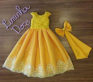 Vestido Festa Amarelo - Vestido de Festa