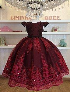 Vestido Minnie Luxo - Vestido de Festa